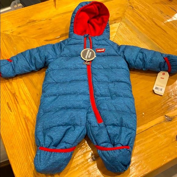 NEW Levi's Newborn Water Resistant Snowsuit